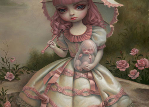 ''Virgin and child'', uma das obras de Mark Ryden.  Fonte: http://flavorwire.com/86184/the-imaginary-realm-of-mark-ryden/view-all